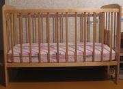Продам детскую кроватку + матрас (ВИЗ,  Екатеринбург)